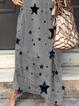Deep Gray Short Sleeve Casual Dresses