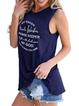 U-Neck Cotton Floral-Print Casual Vests