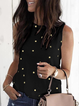Plus size Star Printed Sleeveless Shirts & Tops