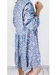 Blue Floral Half Sleeve Dresses