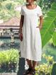 Plain stitching pocket casual dress
