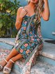 Women Green Dresses Daytime Cotton Printed Floral Dresses