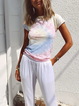 Multicolor Cotton Short Sleeve Printed Shirts & Tops