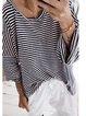 Black Long Sleeve Casual Cotton-Blend Shirts & Tops