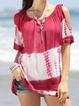 Casual Scoop Neckline Shirts & Tops