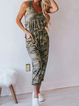 Camouflage Casual Crew Neck Cotton One-Pieces