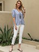 Blue Shift Polka Dots Casual Shirts & Tops