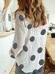 White Casual Printed Polka Dots Shirts & Tops
