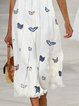 Summer Sleeveless Midi Dress Plus Size Crew Neck Dresses