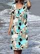 Women Summer Caftan Printed Shift Dresses
