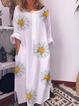 Plus size Crew Neck Floral Dresses