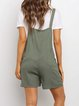 Army Green Pockets Casual Jumpsuits