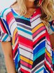 Multicolor Pockets Mini Dress Plus Size Summer Dresses