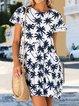 Plus Size Mini Dress Summer Short Sleeve Dresses