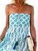 Off Shoulder Maxi Dress Plus Size Printed Dresses