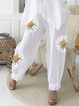 Floral-Print Cotton-Blend Casual Pants