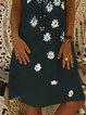 Short Sleeve Floral V Neck Printed Dresses