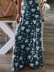 V Neck Sleeveless Floral Dresses