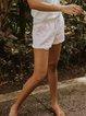 Vintage Cotton-Blend Plain Pants