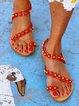 Pu Flower Summer Sandals