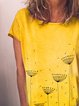 Summer casual printed loose short-sleeved T-shirt