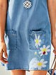Blue Casual Printed Short Sleeve Dresses