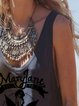Casual printed jersey vest