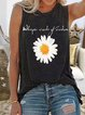 Floral Cotton-Blend Sleeveless Printed Shirts & Tops
