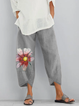 Casual Floral  Printed Pants