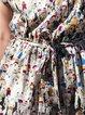 Fun Printed Round Neck Cotton Dress