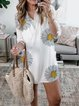White Half Sleeve Cotton Dresses