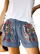 Casual print drawstring shorts