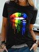 Black Casual Cotton-Blend Shirts & Tops