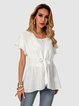 White Short Sleeve Casual Shirts & Tops