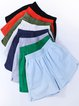 Vintage Plus Size Women Plain Pockets Casual Shorts