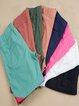 Vintage Plus Size Women Plain Pockets Casual Shorts