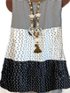 Plus size Polka Dots Sleeveless Shirts & Tops