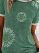 Plus Size Casual Cotton-Blend Short Sleeve Shirts & Tops