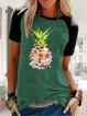 Short Sleeve Cotton-Blend Shirts & Tops