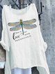 White Printed Casual Cotton Patchwork Shirts & Tops