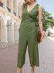 Casual Solid One-Pieces  Jumpsuit