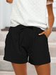 Casual Lace-Up Shorts