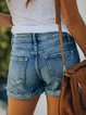Blue Pockets Boho Denim Pants