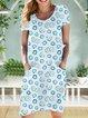 Women Floral Caftan Pockets Daisy Dresses