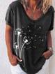 Black V Neck Short Sleeve Shirts & Tops
