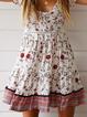 Plus size Floral Short Sleeve Dresses