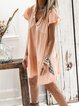 Cotton-Blend Casual Dresses