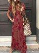 Short Sleeve Cotton-Blend Dresses