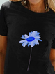 Plus size Crew Neck Casual Shirts & Tops