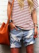 Casual personality washed retro loose denim shorts